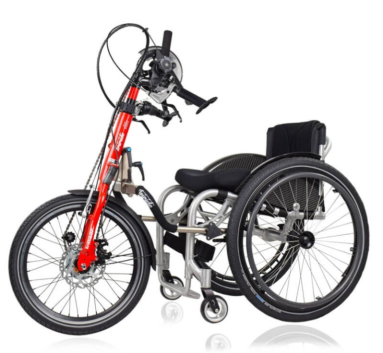 Rollstuhl mit Handbike