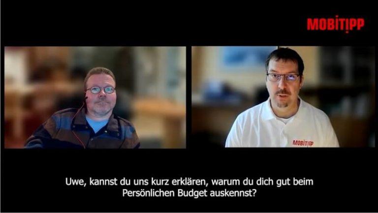 Screenshot von zwei Männern in einer Videokonferenz