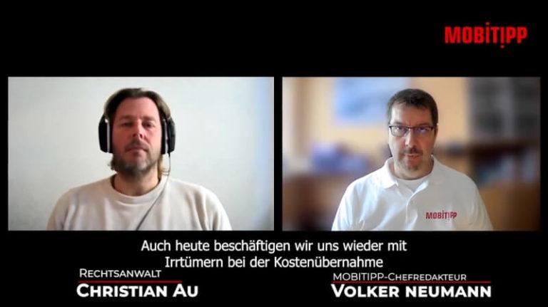 Zwei Männer in einer Videokonferenz